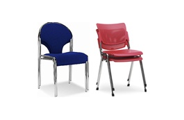 Chrome Frame Stacking Chairs