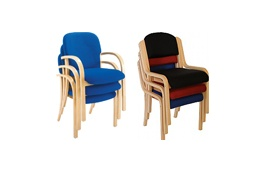 Wooden Frame Stacking Chairs