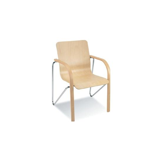 Salsa Wooden Visitor/Cafe Chair