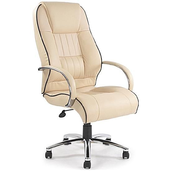 Plymouth Cream Leather Manager Chair