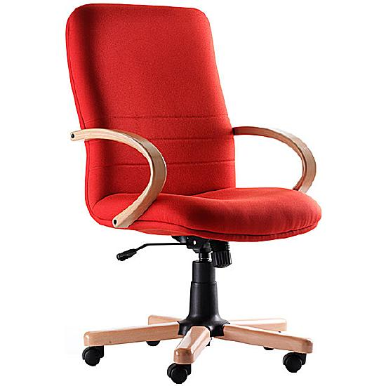 Ascot Medium Back Wooden Executive Chair - Office Chairs
