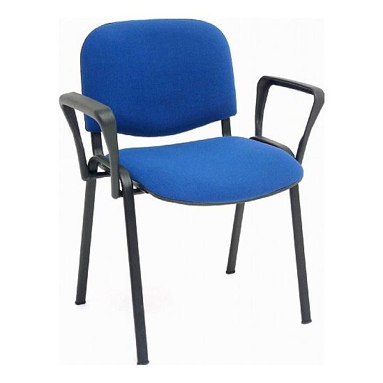 ISO Black Frame Conference Chair With Arms (Pack of 4) - Meeting Room Chairs