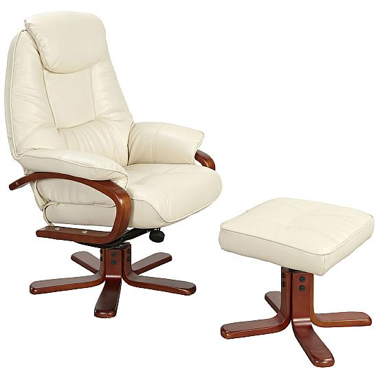 Quaker Leather Recliner Cream - Reception Chairs