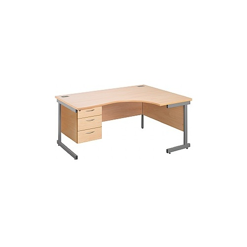 Eco Cantilever Ergonomic Desks With Fixed Pedestal
