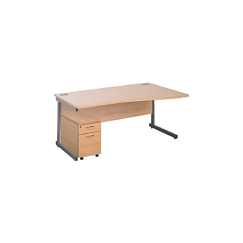 Eco Cantilever Wave Desks With Mobile Pedestal