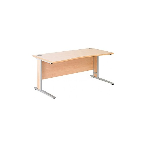 Arena Contract Plus Double Wave Cantilever Desk - Office Desk Ranges