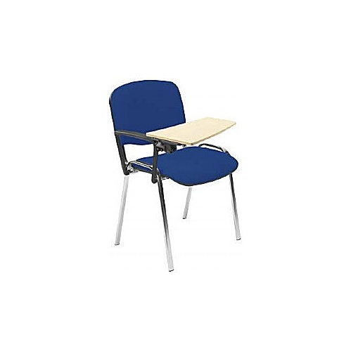 ISO Chrome Frame Conference Chair With Beech Writing Tablet (Pack of 4) - Meeting Room Chairs