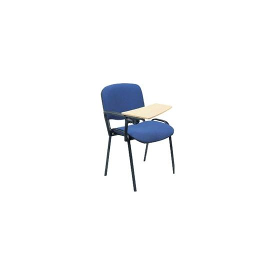 ISO Black Frame Conference Chair With Beech Writing Tablet (Pack of 4) - Meeting Room Chairs
