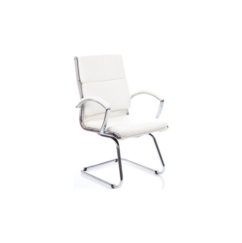 Ritz Executive White Visitors Chair - Meeting Room Chairs