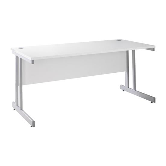 Next Day White Index  Rectangular Desks