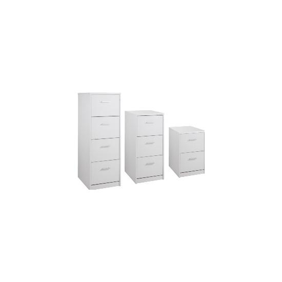Next Day White Index Filing Cabinets - Office Desk Ranges