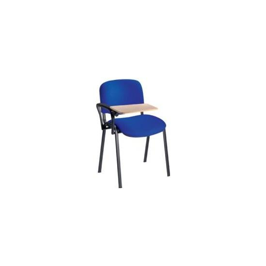 Fleet Black Frame Conference Chair With Wooden Wri