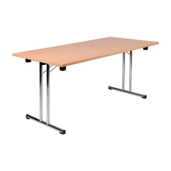 Folding Chrome Meeting Table