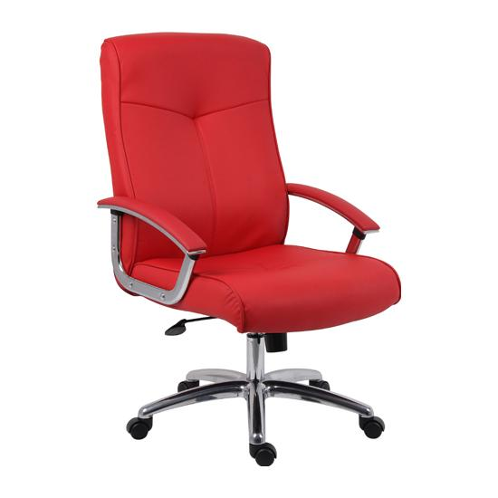 Brighton Red Leather Manager Chair