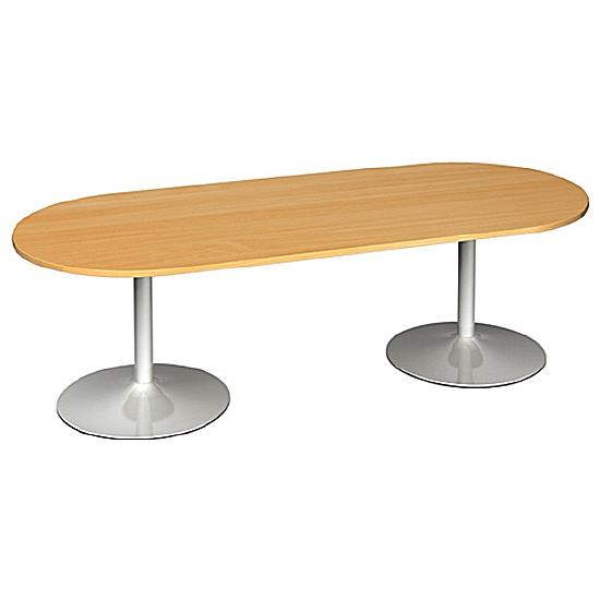 Modern D-End Boardroom Table