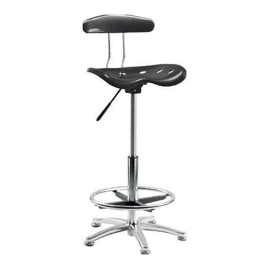 Tek Black Draughtsman Chair