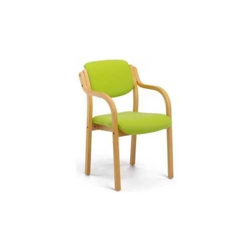 Windsor Vinyl Wooden Framed Armchair