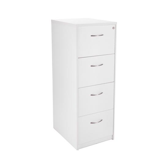 Next Day White Contract 4Dr Filing Cabinet