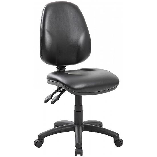 Comfort Ergo 2-Lever Leather Operator Chairs