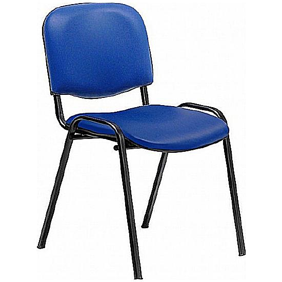 Fleet Vinyl Black Frame Visitor Chair - Meeting Room Chairs