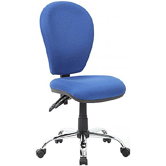 Lento 2-Lever Chrome Operator Chair - Office Chairs