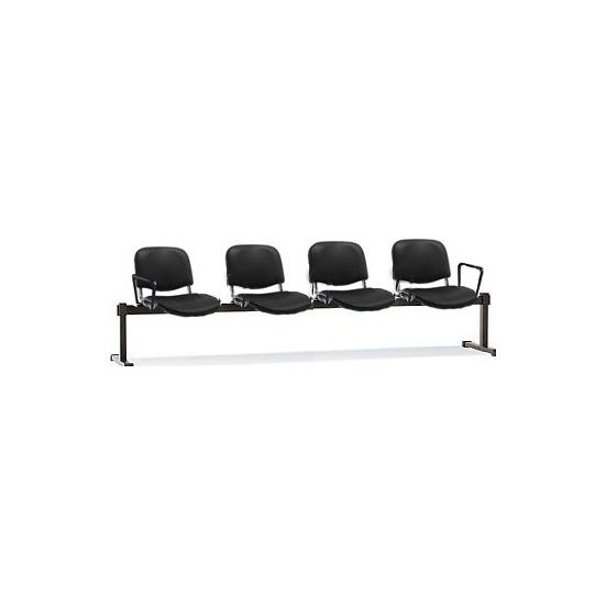 ISO Vinyl 4 Seater Beam with Arms -