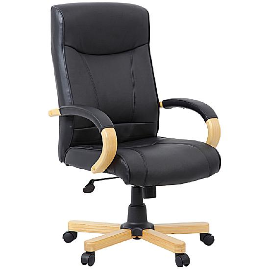 Farnham Soft Touch Black Leather Manager Chair