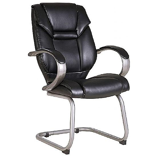 Bailey Leather Cantilever Chair - Office Chairs