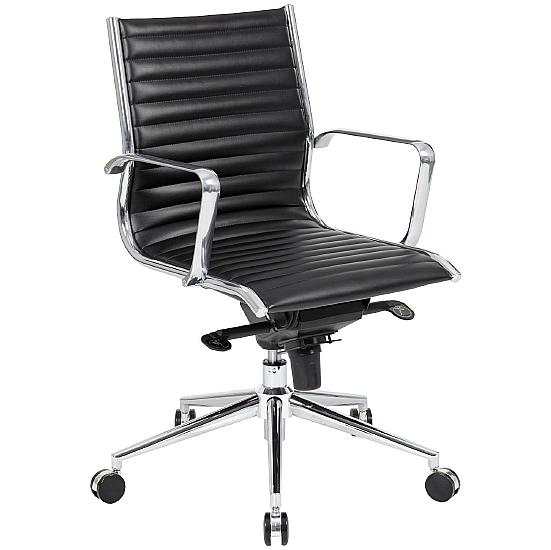Dura Medium Back Leather Office Chairs - Office Chairs