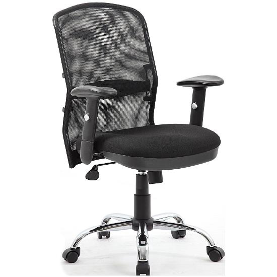 Cologne Chrome Mesh Manager Chair - Office Chairs