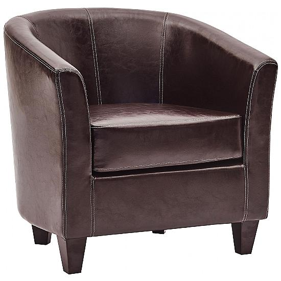 Paisley Bonded Leather Tub Chair - Reception Chairs