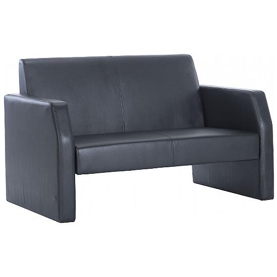 Casper Leather Reception Two Seater - Reception Chairs