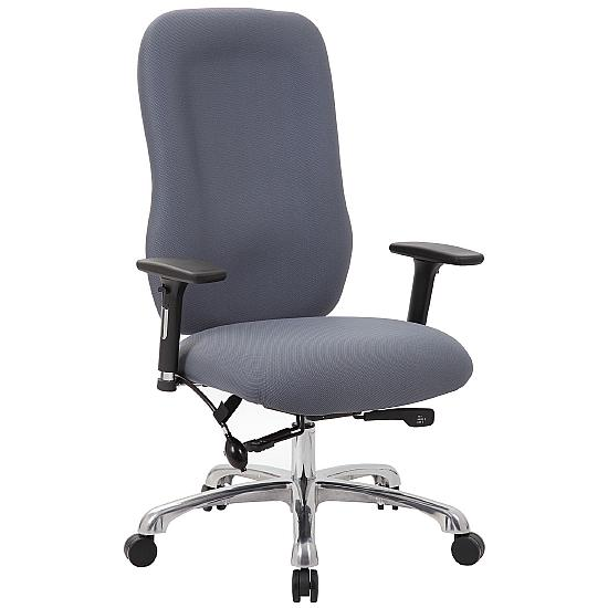 24 Hour High Back Posture Chair with Pocket Sprung Seat - Office Chairs
