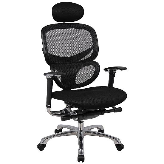 Active 24hr Ergonomic Mesh Back With Air Mesh Seat  (With Headrest) - Office Chairs