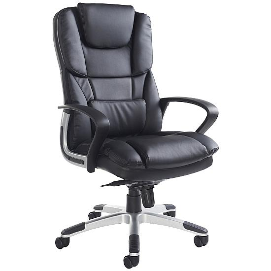 Airgo High Back Leather Managers Chair - Office Chairs