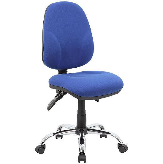 Comfort Ergo 3-Lever Chrome Operator Chairs - Office Chairs