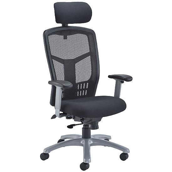 Fonz Mesh Manager Chair - Office Chairs