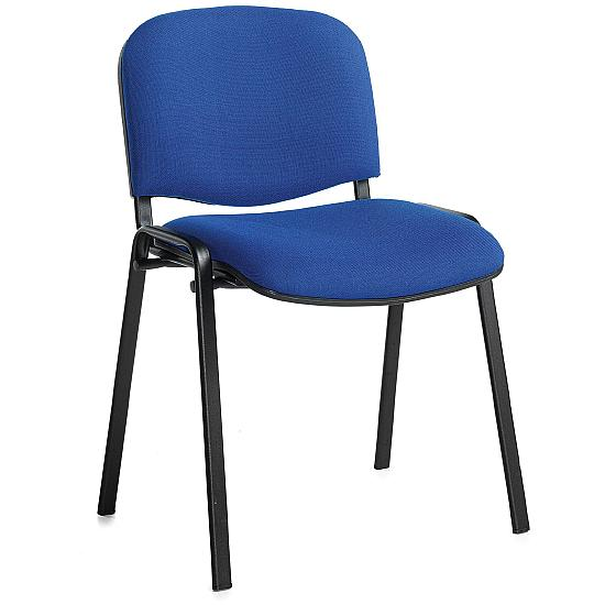 Fleet Black Frame Conference Chair (4 Pack) - Office Chairs