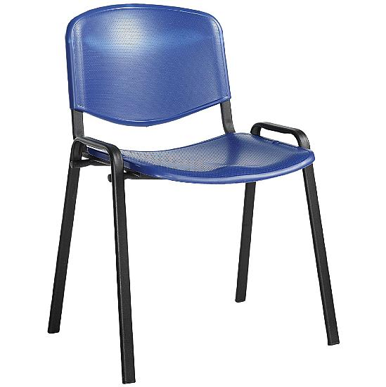 Fleet Black Frame Plastic Conference Chair(Pack of 4) - Office Furniture