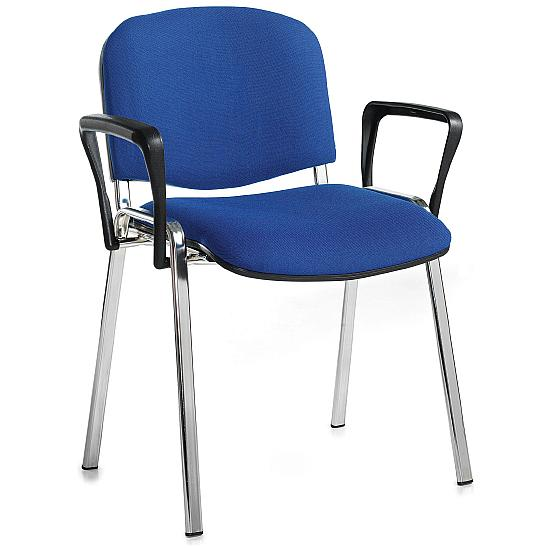 Fleet Chrome Frame Conference Armchair (4 Pack) - Office Chairs