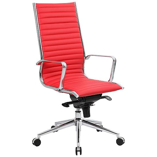 Dura High Back Red Leather Office Chairs - Office Chairs
