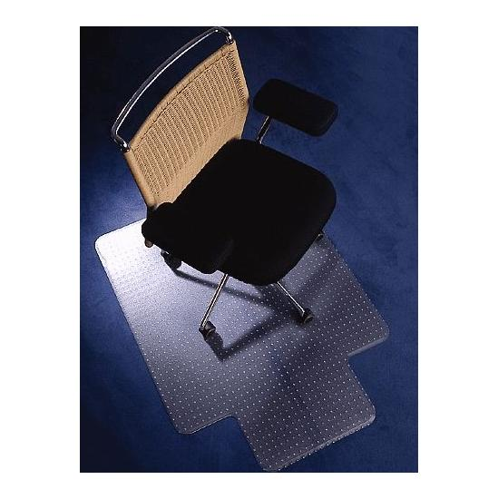 Low Pile Carpet PVC Chair Mat Rectangular With Lip - Office Chairs