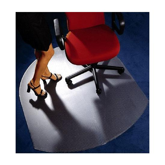 Low Pile Carpet PVC Chair Mat Contoured - Office Chairs