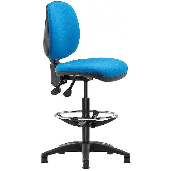 Two Medium Back Draughtsman chair - Office Chairs