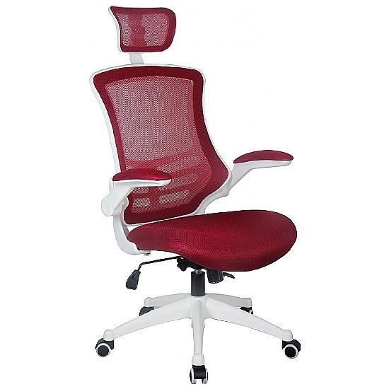 Orb Mesh High Back Office Chair With Headrest - Office Chairs