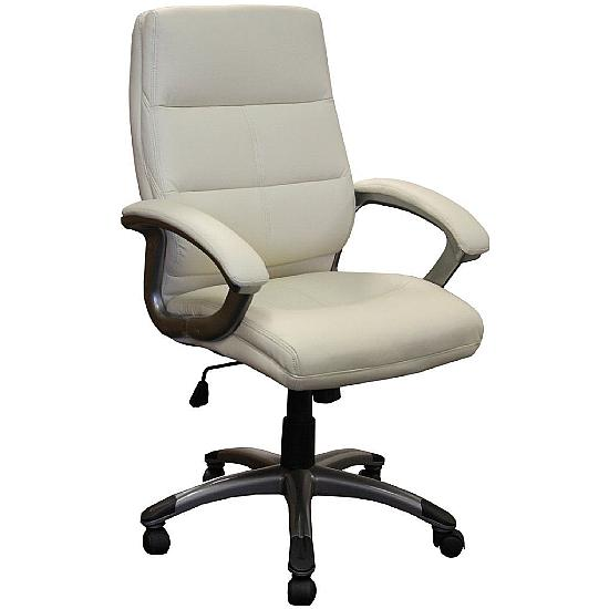 Greenwich Medium Back Leather Executive Chair - Office Chairs