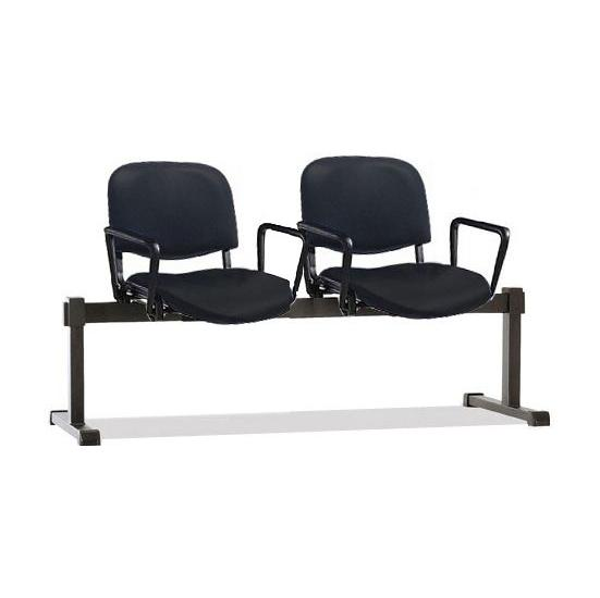 ISO Vinyl Beam Seating With Arms - Reception Chairs
