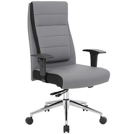 Icon Leather Faced Manager Chair - Office Chairs