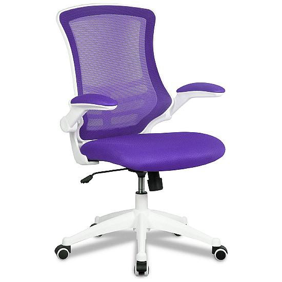 Airflow Mesh White Frame Manager Chair - Office Chairs