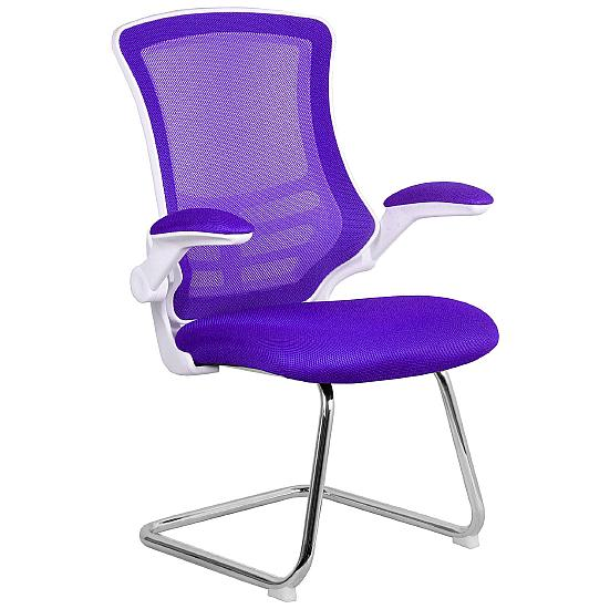 Airflow Mesh White Frame Visitor Chair - Meeting Room Chairs